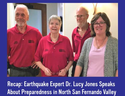 Earthquake Expert Dr. Lucy Jones Speaks About Preparedness in North San Fernando Valley