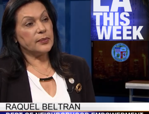 "NCs in the News: GM Raquel Beltrán Talks to Channel 35's ""Currents"" About the History and Future of Neighborhood Councils"