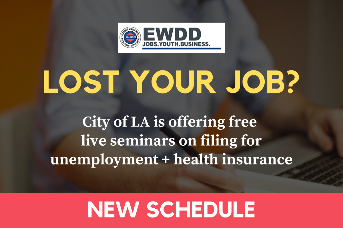 Job Loss Support Seminars from City of Los Angeles EWDD